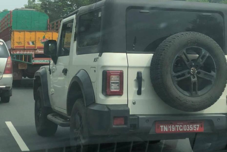 Second-gen Mahindra Thar Spied In Two New Colours