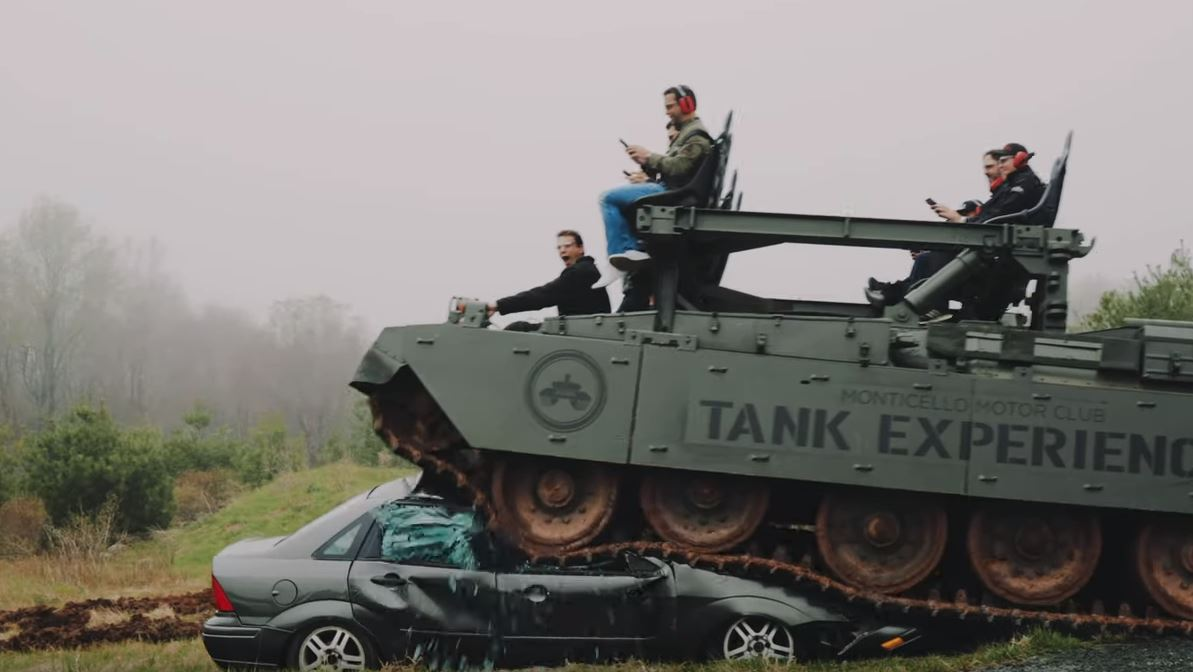 ry Destroying A Car With A 61-Ton Battle Tank