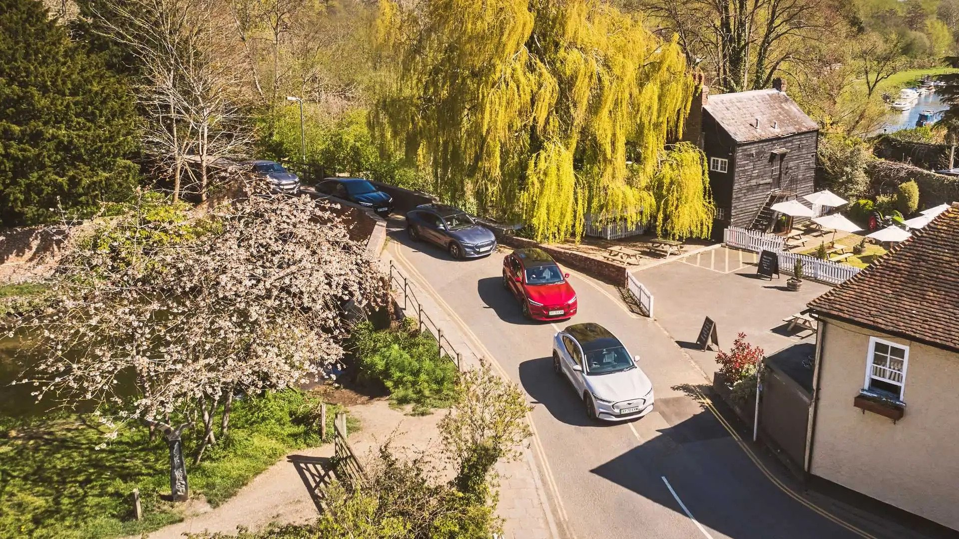 Ford Mustang Mach-E Tries To Convert Fordwich To EVs